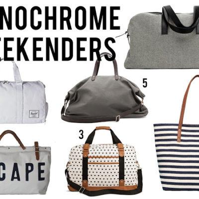 Monochrome Weekender Bags