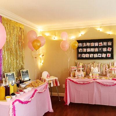 Pink, Gold, & Cat Birthday