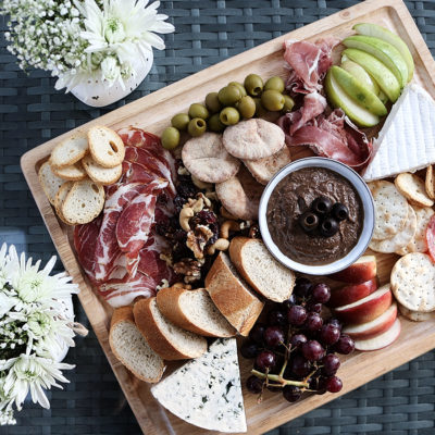 Mediterranean Charcuterie Board with Olive Spread