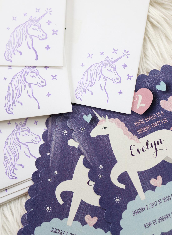 tiny prints unicorn invitation chanel moving forward