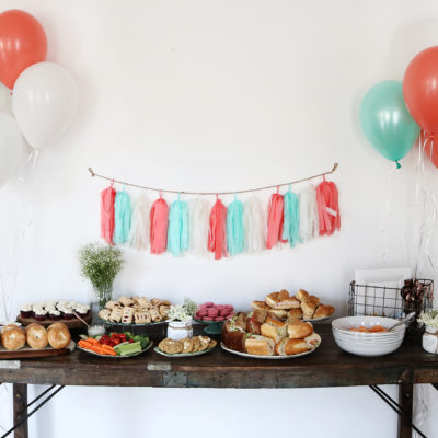 A Feminine, Rustic Baby Shower