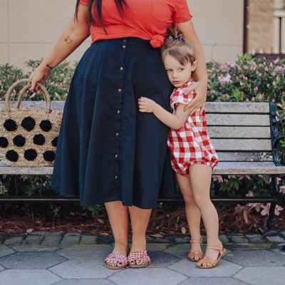How to Wear Gingham with Your Daughter