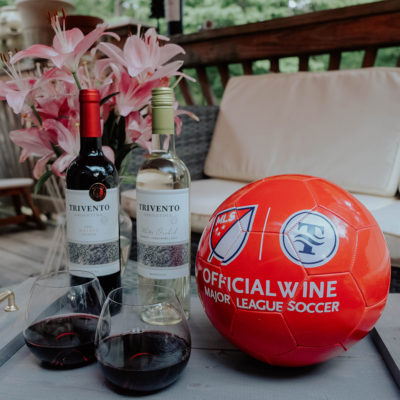 Backyard BBQ, Soccer, & Trivento Wine!